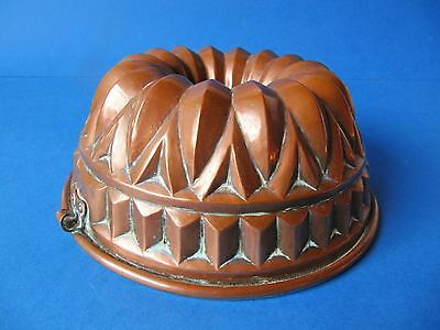 Large Antique 19th Century Victorian Copper Jelly Blancmange Mould