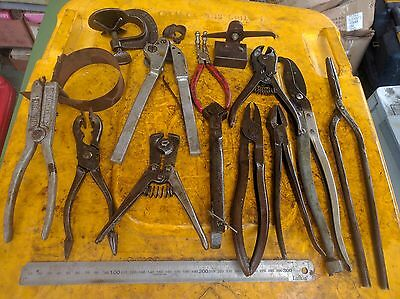 Vintage Collectible hand tools various pliers clamps Cutters etc 15 pc
