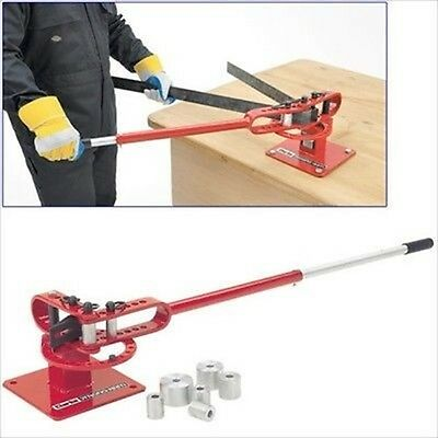 Bench Mount Mounted Manual Steel Metal Round Pipe Bar & Tubing Tube Bender