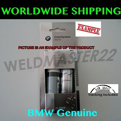 BMW New Touch Up Paint Stick Set 475 Black Sapphire Metallic Genuine 51910302045