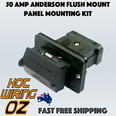 Anderson 50Amp 50A Connector External Flush Panel Mounting Kit  Genuine
