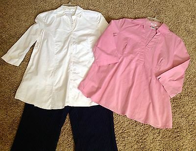 Size Small Career Casual Maternity Blouse Tops & Pants Lot