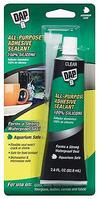 Dap 00688 Household Waterproof Adhesive Sealant, 100-Percent Silicone, 2.8-Ounce