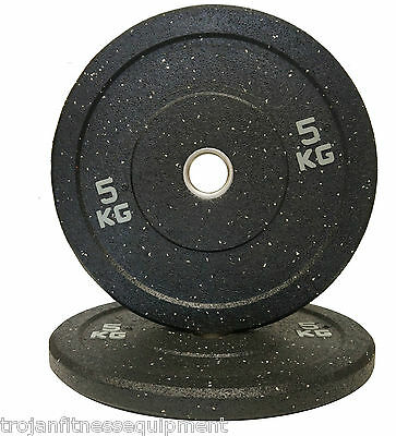 Bumper Plates Olympic Solid Rubber 5 Kg Sold In Pairs -