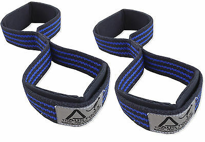 Weight Lifting Gym Bar Figure 8 Straps Neoprene Padded Fitness Wraps
