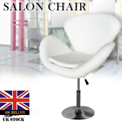 New White PU Beauty Tattoo Styling Spa Salon Stool Barber Hairdressing  Chair