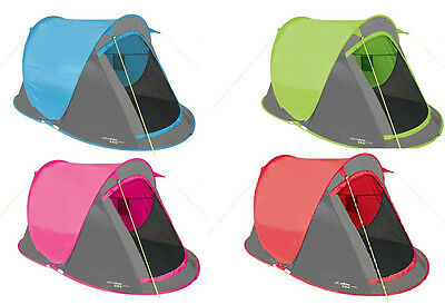 Two Adults Pop Up Tent Hiking Camping Festival Beach Quick Instant Fast Pitch