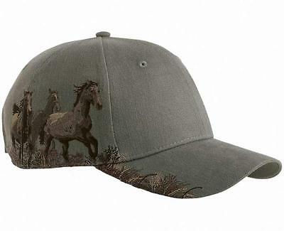 Dri Duck Mustangs Horses Western Baseball Hat Cap Earth Color  NEW