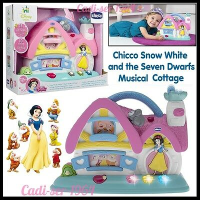 Chicco Snow White and the 7 Dwarfs Musical Cottage Toy Disney Baby Toy NEW
