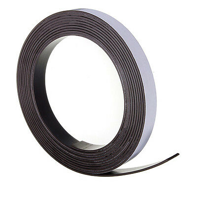 Self Adhesive Flexible Magnetic Tape Magnet Strip Craft Fridge 12.5mm wide 1-25M