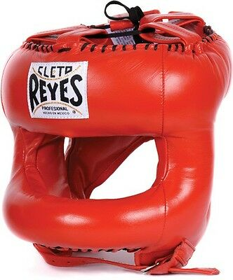 Cleto Reyes Traditional Headguard Head Guard with Nylon Round Face Bar Red