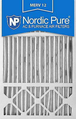 Nordic Pure 16x25x5 Honeywell Replacement AC Furnace Air Filters MERV 12, Box of