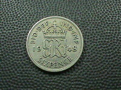 GREAT  BRITAIN    6 pence    1948