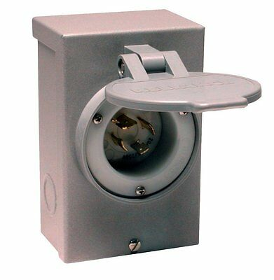 Reliance Controls PB30 L14-30 30 Amp Generator Power Cord Inlet Box For Up To 7,