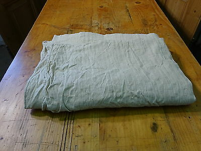 Antique European Linen, Hemp,Flax Homespun Linen Sheet 67'' x 51'' #7619