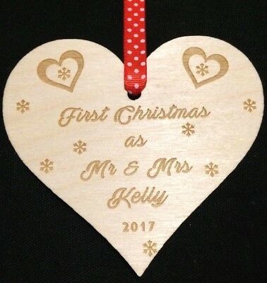first christmas married mr mrs personalised xmas decoration bauble and gift
