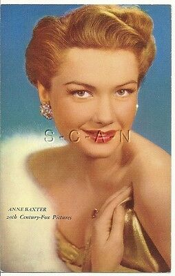 Original 1940s Semi Nude Pinup PC- Movie Card- Actress- Anne Baxter- Fur- Dress