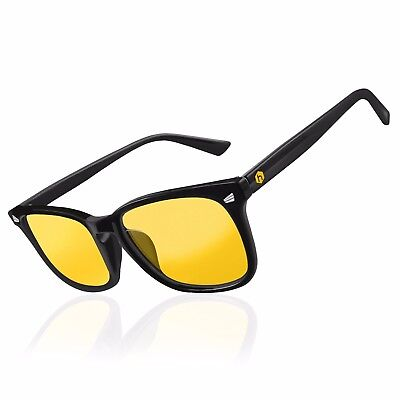 NEW Hex Gaming Glasses Anti Glare Yellow Lens Gaming PC Gamers Blue Light Block