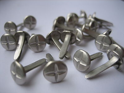 50 x Philips 8mm screw head style Brads, paperclip/fasteners like screws Crafts