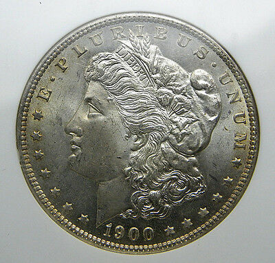 1900-O Morgan Silver Dollar Ngc Ms-65 Lustrous With Light Golden Toning