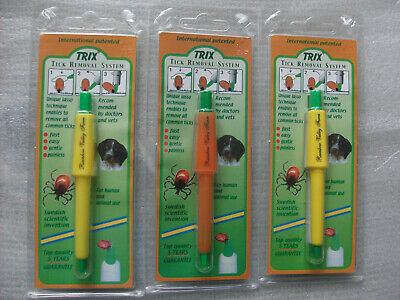 Lot of 3 BEST Tick Remover's  Trix Tick Lasso for Dogs Cats Children