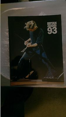 Bryan Adams  1993 Tour Book Concert  Program  Programme  Vintage  Mint