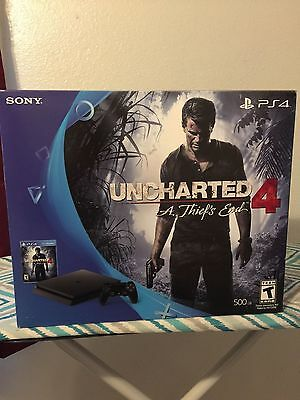 BRAND NEW PlayStation 4 Slim 500GB Console Uncharted 4 Bundle