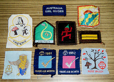 Vintage c1970/80s Cloth Patches - Girl Guides & Brownies
