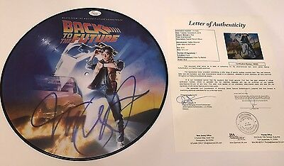 "MICHAEL J FOX signed VINYL RECORD LP BACK TO THE FUTURE 12"" Picture Disc JSA"