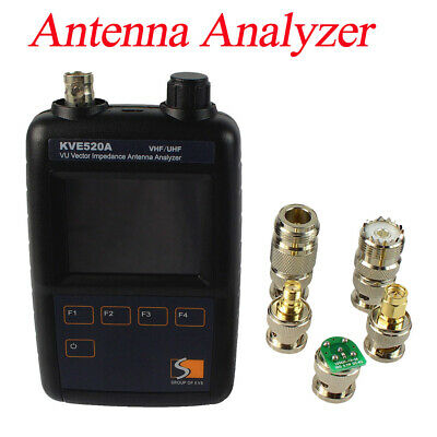 New VHF/UHF Color Graphic Vector Impedance Antenna Analyzer KVE520A+5 Connectors