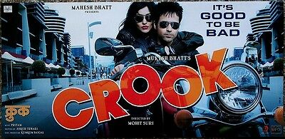 "India Bollywood 2010 CROOK lobby cards (6) Emraan Hashmi 11""x23"""