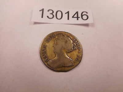 1711 Great Britain Six Pence Queen Anne Nice Collector Album Coin - # 130146