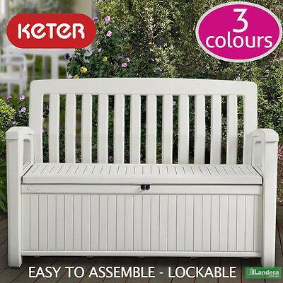 Keter Patio Bench - 3 Colours, Underseat Storage, High Quality 1.38m long