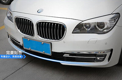 For BMW 7 Series F01 2014 2015 Stainless Car Front Bumper Cover Trim Glossy 1pcs