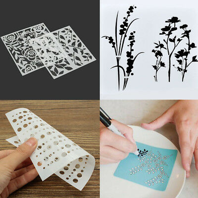 Flower Layering Stencils Painting Scrapbooking Embossing Paper Cards DIY Crafts