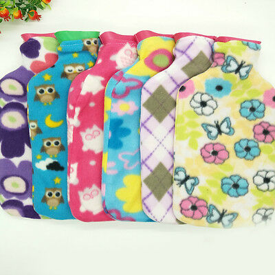 New 1Pc Flannel Household Water Bag Cloth Cover Hand Po Warm Abdomen 250-2000ml