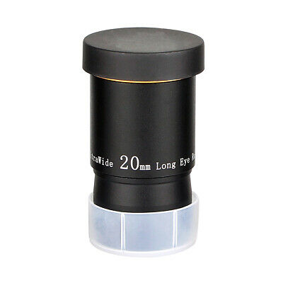 """66° Ultra Wide Angle Eyepiece for Telescopes 1.25"""" Filter Thread Barrel 20mm US"""