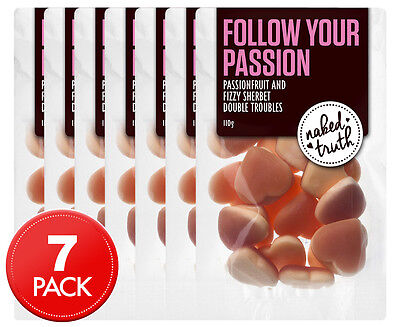 7 x Naked Truth Passionfruit & Fizzy Sherbet Double Troubles 110g