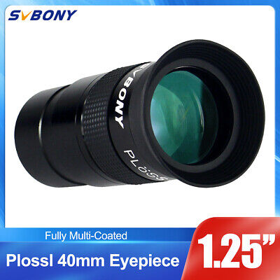 "1.25"" Plossl 40mm Eyepiece FullyMulti Green Coated For Astronomy Telescope US"