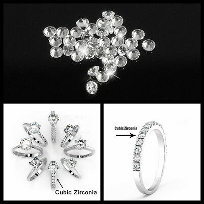 1000Pcs 6G 1mm Round Shape AAA White Crystal Loose CZ Stone Cubic Zirconia