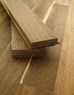 "20"" Smoked Oak Strip Hardwood Flooring 100% Solid Wood S22DDW1"