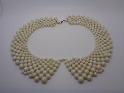 Vintage Plastic Beaded Collar 1960's Style