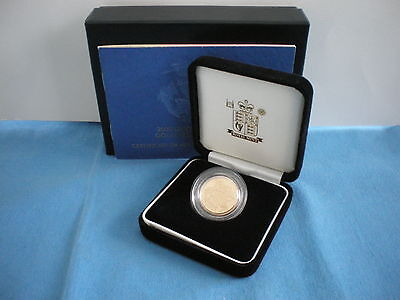 2005 Royal Mint Uk Gold Proof Sovereign - With Box & Coa