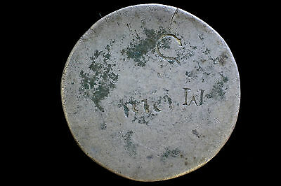 Silver convict love token stamped coin C 24mm 2.9 g Metal detector find.