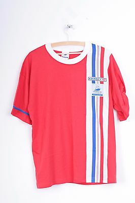 France 98 Football World Cup Shirt Coupe Du Monde Mens 38 M Red Cotton Trikot