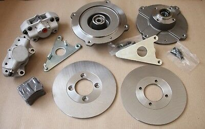 """Classic Fiat 500 F L R 126 Front Disc Brake Conversion Kit """"Abarth Style"""""""