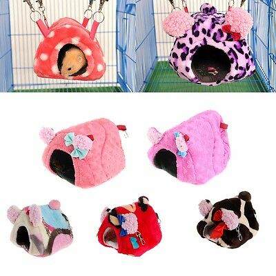 Small Animal Pet Rabbit Hamster Plush House Bed Rat Warm Hanging Cage Nest Hot