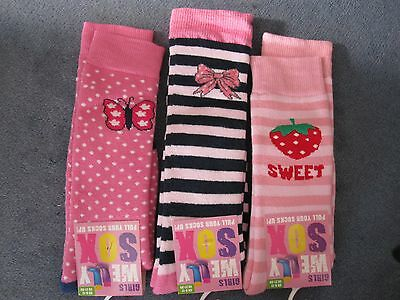 BNWT- 3 PAIRS NOVELTY WELLY SOCKS - 6-8.5 and 9-12 (DES. 3) FREE POST UK ONLY