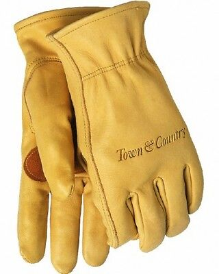 Mens Town and Country Large Superior Leather Lined Gardening Protection Gloves