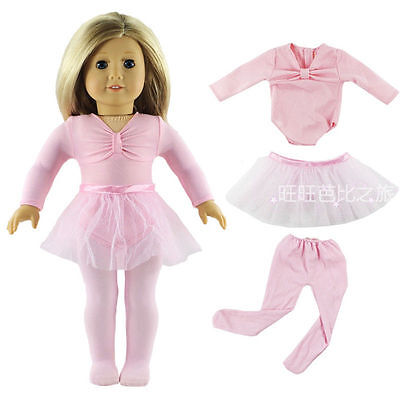 Hot Handmade Pink Doll Clothes Dress Fits for 18 Inch American Girl Dolls